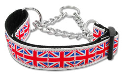 Tiled Union Jack Martingale Collars